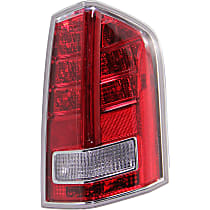 Passenger Side Tail Light, With bulb(s) - Clear & Red Lens, w/ Red Accent, Sedan