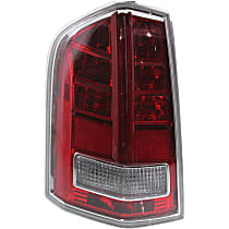 Driver Side Tail Light, With bulb(s) - Clear & Red Lens, w/ Red Accent, Sedan