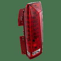 Passenger Side Tail Light, Clear & Red Lens
