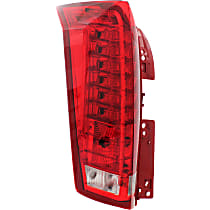 Driver Side Tail Light, Clear & Red Lens