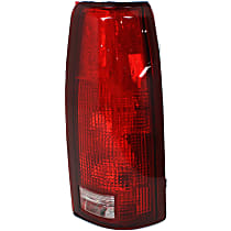 Passenger Side Tail Light, Without bulb(s) - Clear & Red Lens, w/o Connector Plate, Exc. 15, 000 Lbs. GVW