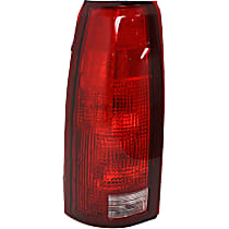 Driver Side Tail Light, Without bulb(s) - Clear & Red Lens, w/o Connector Plate, Exc. 15, 000 Lbs. GVW