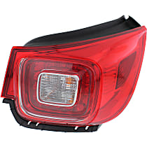 Passenger Side, Outer Tail Light, With bulb(s) - Clear & Red Lens, LED, LTZ Model, CAPA CERTIFIED