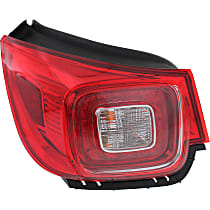 Driver Side, Outer Tail Light, With bulb(s) - Clear & Red Lens, LED, LTZ Model, CAPA CERTIFIED