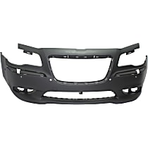 Bumper Cover - Front, 1 Piece, Primed, For Models With Parking Aid Sensors