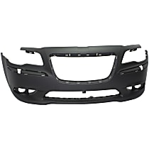 Bumper Cover - Front, 1 Piece, Primed, For Models Without Adaptive Cruise Control
