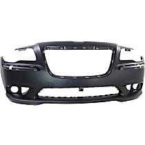 Bumper Cover - Front, 1 Piece, Primed, For Models Without Adaptive Cruise Control, CAPA Certified