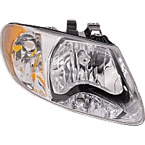 Passenger Side Headlight, With bulb(s) - w/o Turn Signal Light Bulb, For Models with 113 inch Wheelbase