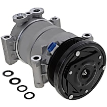 A/C Compressor, With clutch, 6-Groove Pulley; 4.3L