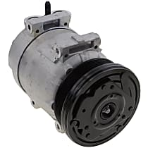 A/C Compressor, With clutch, 6-Groove Pulley; 1.6L