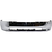 Bumper - Front, Chrome, without Fog Light Holes, CAPA Certified