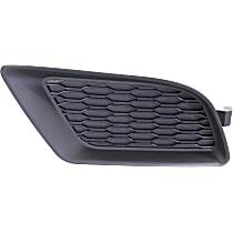 Front, Driver Side Fog Light Cover, Black