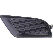 Front, Driver Side Fog Light Cover, Black