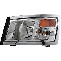 Driver Side Headlight, With bulb(s) - Clear Lens, Black Interior