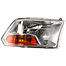 Passenger Side Headlight, With bulb(s) - Models w/o Quad Lamps, (3500 To 7-23-12)