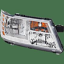 Headlight - Passenger Side, Chrome Trim, With Bulb(s)