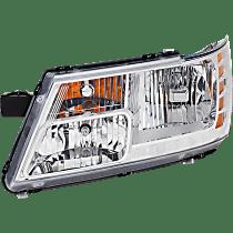 Headlight - Driver Side, Chrome Trim, With Bulb(s)