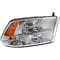 Passenger Side Halogen Headlight, With bulb(s) - From 7-23-12 Models 3500, Clear Lens, Chrome Interior