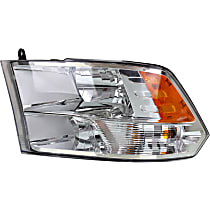 Driver Side Halogen Headlight, With bulb(s) - From 7-23-12 Models 3500, Clear Lens, Chrome Interior
