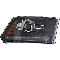 Passenger Side Halogen Headlight, With bulb(s) - Projector Models With Chrome Bezel/Black Interior