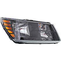 Passenger Side Headlight, With bulb(s) - Clear Lens, Black Interior, CAPA CERTIFIED