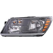 Driver Side Headlight, With bulb(s) - Clear Lens, Black Interior, CAPA CERTIFIED