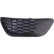 Driver Side Fog Light Cover, Black
