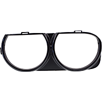 Replacement REPD111904 Headlight Bezel - Black, Sold individually