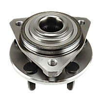 Front Wheel Bearing and Hub Assembly, Driver or Passenger Side For FWD Models with 3-bolt mounting flange