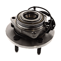 Front Wheel Hub Bearing Assembly Driver or Passenger Side For Models with 4-Wheel ABS