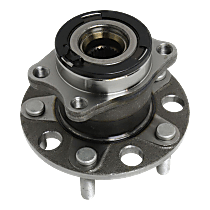 Rear, Driver or Passenger Side Wheel Hub and Bearing Assembly, For 4WD