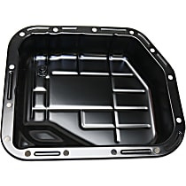 Replacement REPD318605 Transmission Pan - Black, Steel, Direct Fit, Sold individually