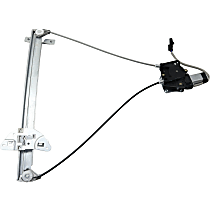 Front, Passenger Side Power Window Regulator, With Motor - Quad Cab