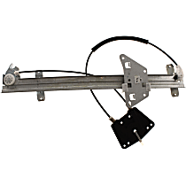 Front, Driver Side Power Window Regulator, Without Motor - Quad Cab