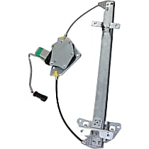 Rear, Driver Side Power Window Regulator, With Motor - Quad Cab