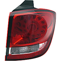 Models w/ LED Lights - Passenger Side, Outer Tail Light, With bulb(s), CAPA CERTIFIED