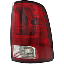 Passenger Side Tail Light, With bulb(s) - Clear & Red Lens, Standard Type, CAPA CERTIFIED
