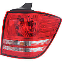 Models w/o LED Lights - Passenger Side, Outer Tail Light, With bulb(s)