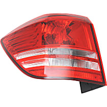 Models w/o LED Lights - Driver Side, Outer Tail Light, With bulb(s), CAPA CERTIFIED