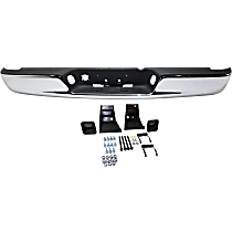 Chrome Step Bumper Assembly, w/ Mounting Brackets, w/ Step Pad