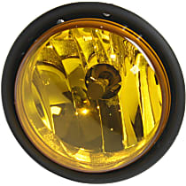 Fog Light Assembly - Driver or Passenger Side, Yellow Lens