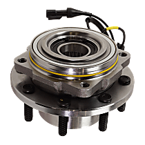 Wheel Hub - Front, Driver or Passenger Side, 4WD, Dual Rear Wheel (DRW), Except Extended Axle