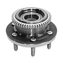 Front, Driver or Passenger Side Wheel Hub and Bearing, For RWD/2WD with 6 lug