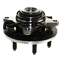 Front, Driver or Passenger Side Wheel Hub and Bearing, For 4WD or AWD with 6 Lug