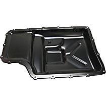 Replacement REPF318601 Transmission Pan - Black, Steel, Direct Fit, Sold individually