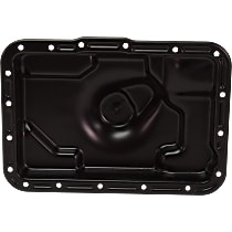 Replacement REPF318603 Transmission Pan - Black, Steel, Direct Fit, Sold individually