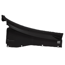 Replacement Wiper Cowl Grille - Black - Passenger Side