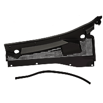 Replacement Wiper Cowl Grille - Black - Driver Side