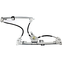 Front, Passenger Side Power Window Regulator, Without Motor - Super Crew