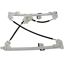 Front, Driver Side Power Window Regulator, Without Motor - Super Crew